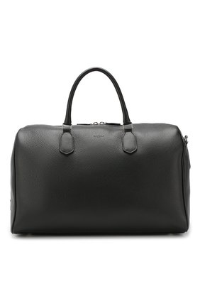 Мужская кожаная дорожная сумка CANALI черного цвета, арт. P325152/NA00051 | Фото 1