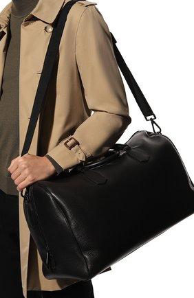 Мужская кожаная дорожная сумка CANALI черного цвета, арт. P325152/NA00051 | Фото 2
