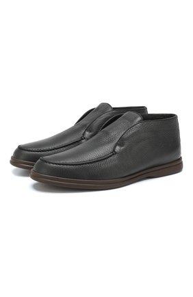 Кожаные ботинки Open Walk  с внутренней меховой отделкой | Фото №1