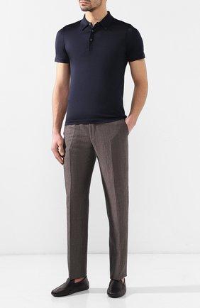 Мужские кожаные мокасины gommini TOD'S синего цвета, арт. XXM0GW0S570NLK | Фото 2