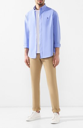 Мужские хлопковые брюки POLO RALPH LAUREN бежевого цвета, арт. 710704176   Фото 2