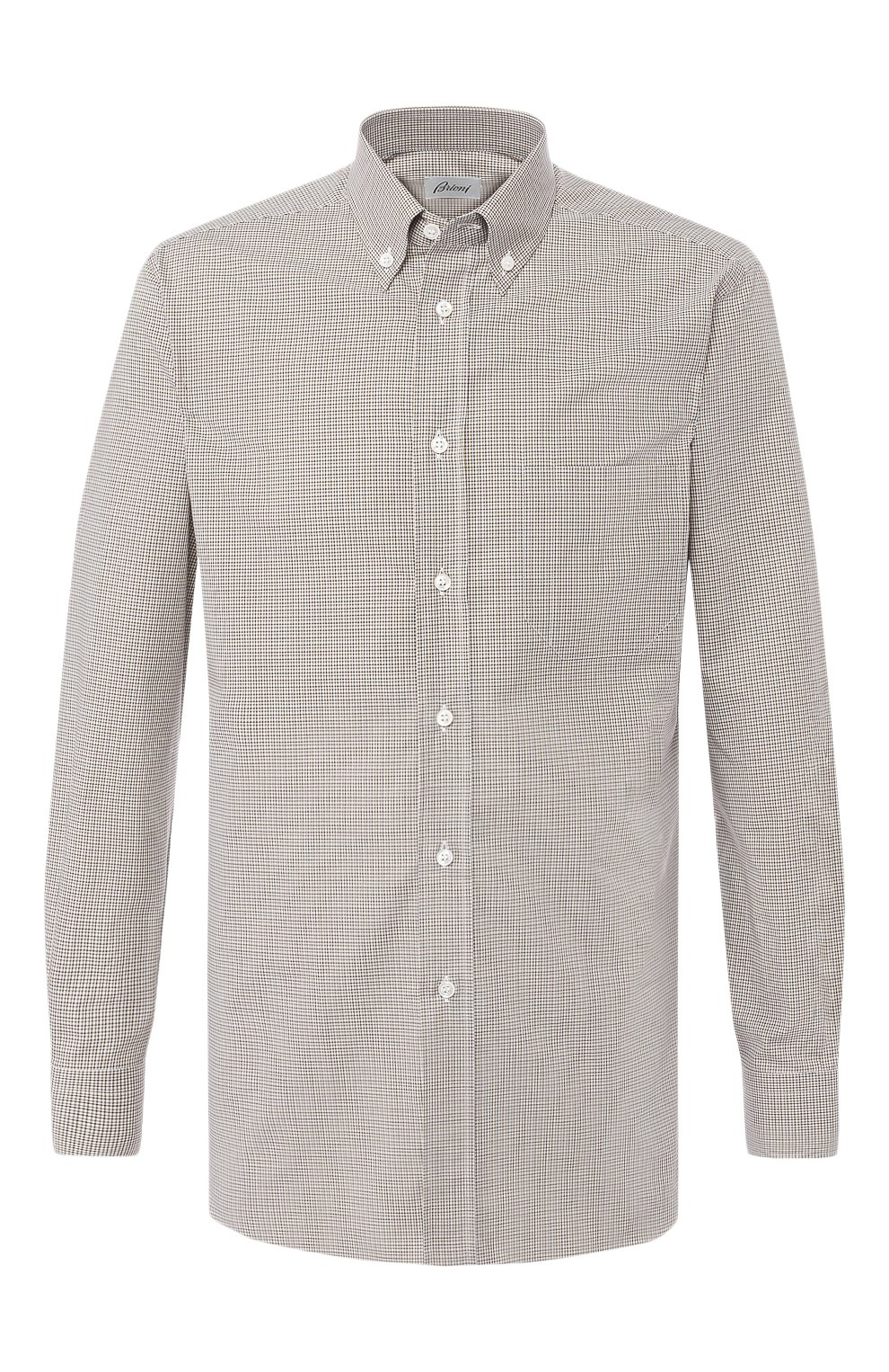 Мужская хлопковая рубашка BRIONI бежевого цвета, арт. SCAA0M/P8029 | Фото 1