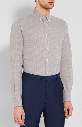 Мужская хлопковая рубашка BRIONI бежевого цвета, арт. SCAA0M/P8029 | Фото 3