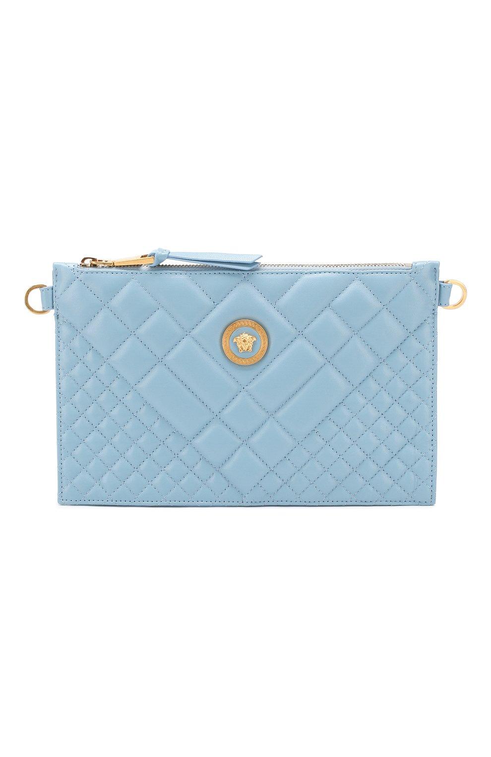 Сумка Quilted Versace голубая цвета   Фото №1