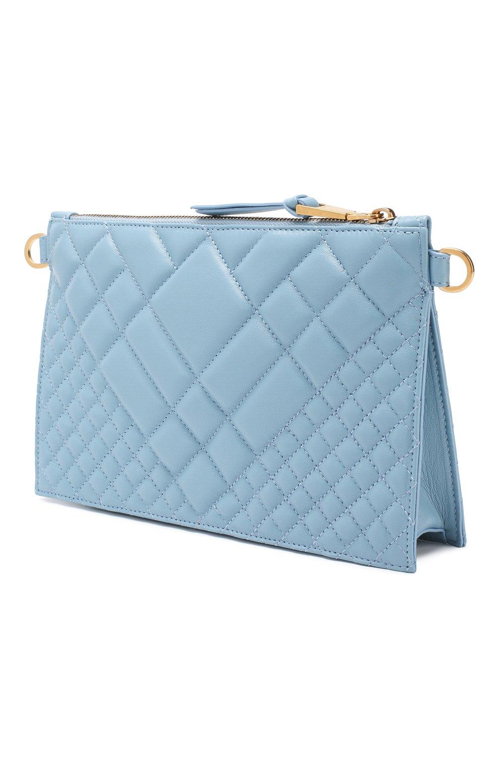 Сумка Quilted Versace голубая цвета   Фото №3