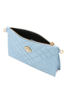 Сумка Quilted Versace голубая цвета   Фото №4