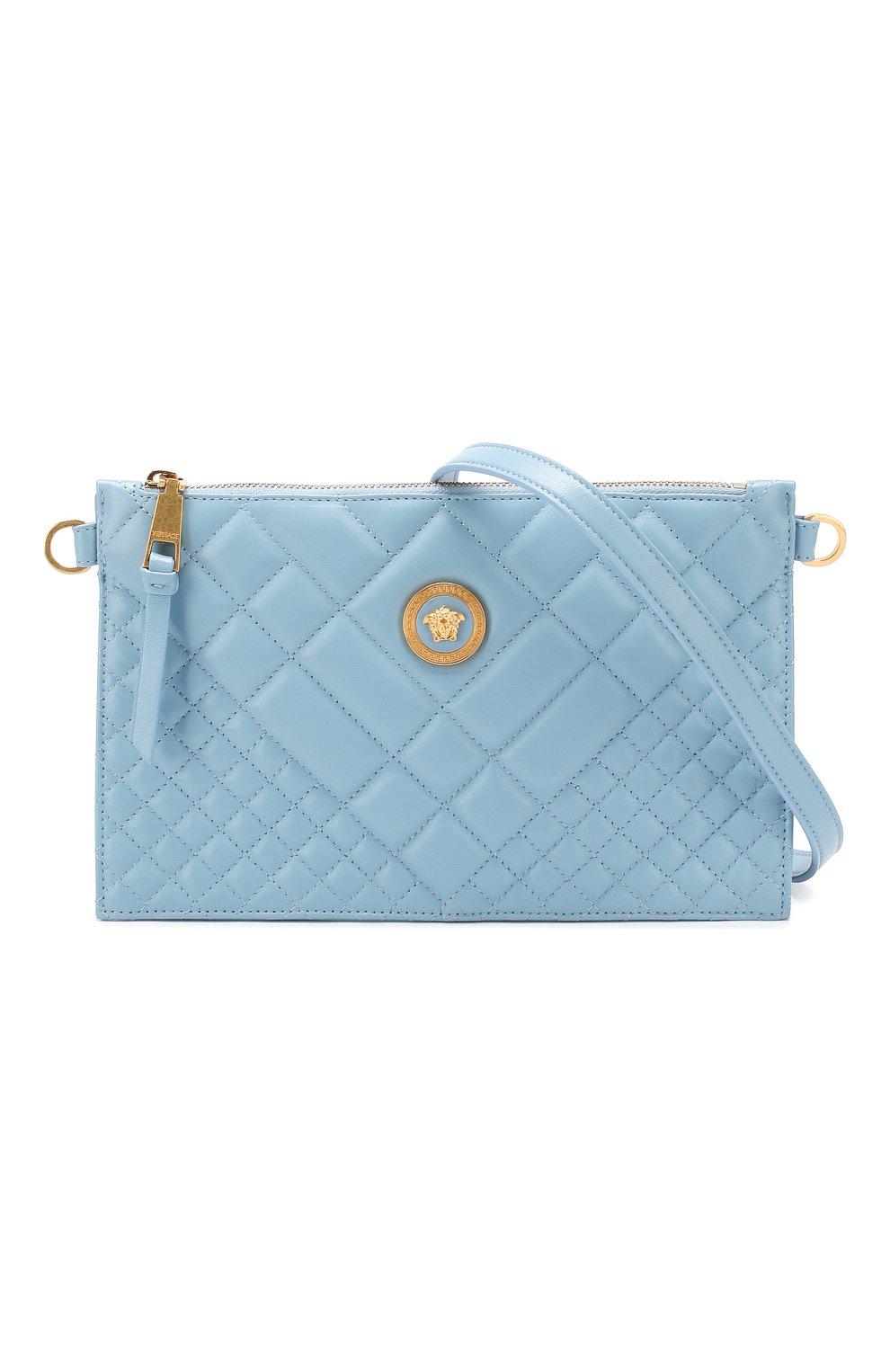 Сумка Quilted Versace голубая цвета   Фото №6