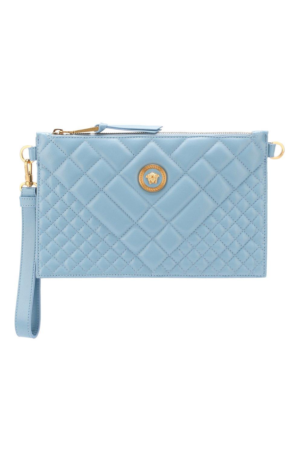 Сумка Quilted Versace голубая цвета   Фото №7