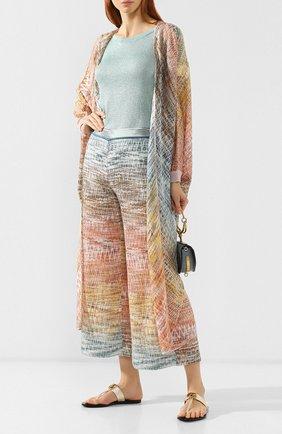 Женские кожаные шлепанцы gg marmont GUCCI золотого цвета, арт. 497444/0B7N0 | Фото 2