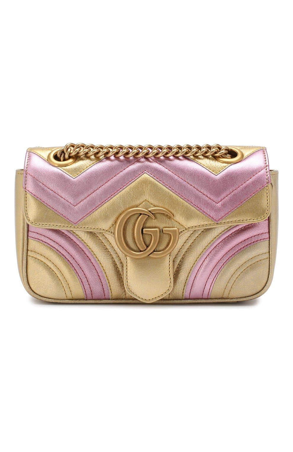 Сумка GG Marmont mini  Gucci золотая цвета   Фото №1