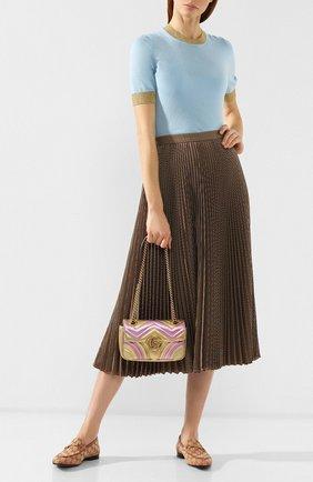 Сумка GG Marmont mini  Gucci золотая цвета   Фото №2
