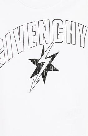 Детский хлопковая футболка GIVENCHY белого цвета, арт. H05072/2A-3A   Фото 3