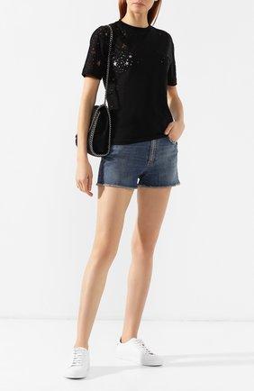 Женская хлопковая футболка STELLA MCCARTNEY черного цвета, арт. 342365/SJW35 | Фото 2