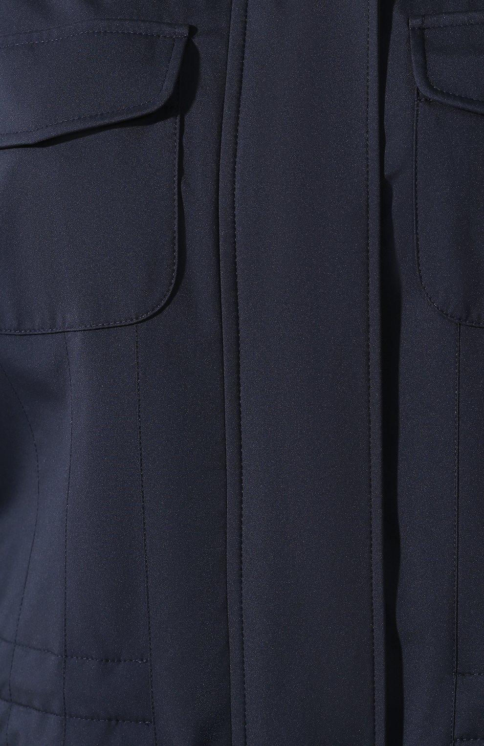 Женская парка с капюшоном LORO PIANA темно-синего цвета, арт. FAI0949 | Фото 5