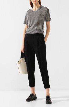 Женская футболка из смеси хлопка и льна ISABEL MARANT ETOILE черно-белого цвета, арт. TS0334-00M006E/ANDREIA   Фото 2