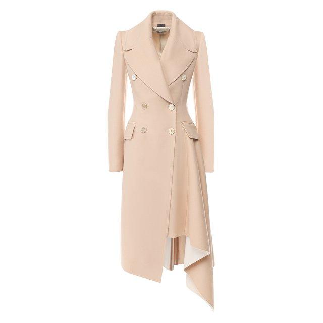 Шерстяное пальто Alexander McQueen