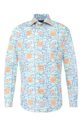 Мужская хлопковая рубашка RALPH LAUREN разноцветного цвета, арт. 791741062   Фото 1