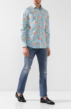 Мужская хлопковая рубашка RALPH LAUREN разноцветного цвета, арт. 791741062 | Фото 2