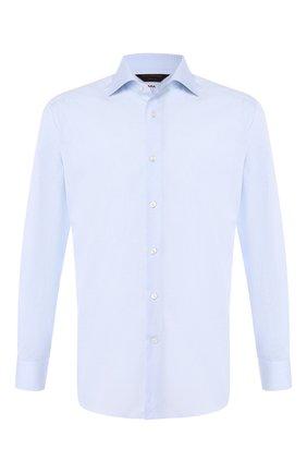 Мужская хлопковая сорочка с воротником кент ZEGNA COUTURE голубого цвета, арт. 502018/9NS0RI | Фото 1