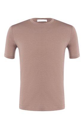 Мужская хлопковая футболка CRUCIANI темно-бежевого цвета, арт. CUJ0SB.G30 | Фото 1