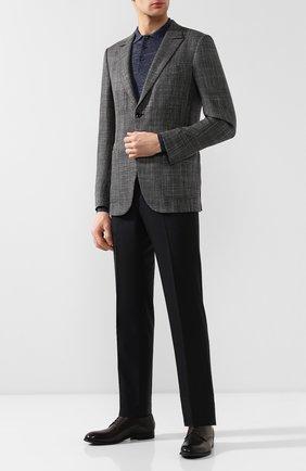Мужской пиджак из смеси шерсти и шелка ZEGNA COUTURE темно-серого цвета, арт. 550N01/12C5N0 | Фото 2