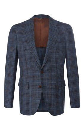 Мужской пиджак из смеси шерсти и шелка LORO PIANA синего цвета, арт. FAI4959 | Фото 1