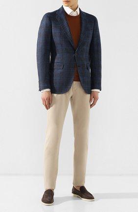 Мужской пиджак из смеси шерсти и шелка LORO PIANA синего цвета, арт. FAI4959 | Фото 2