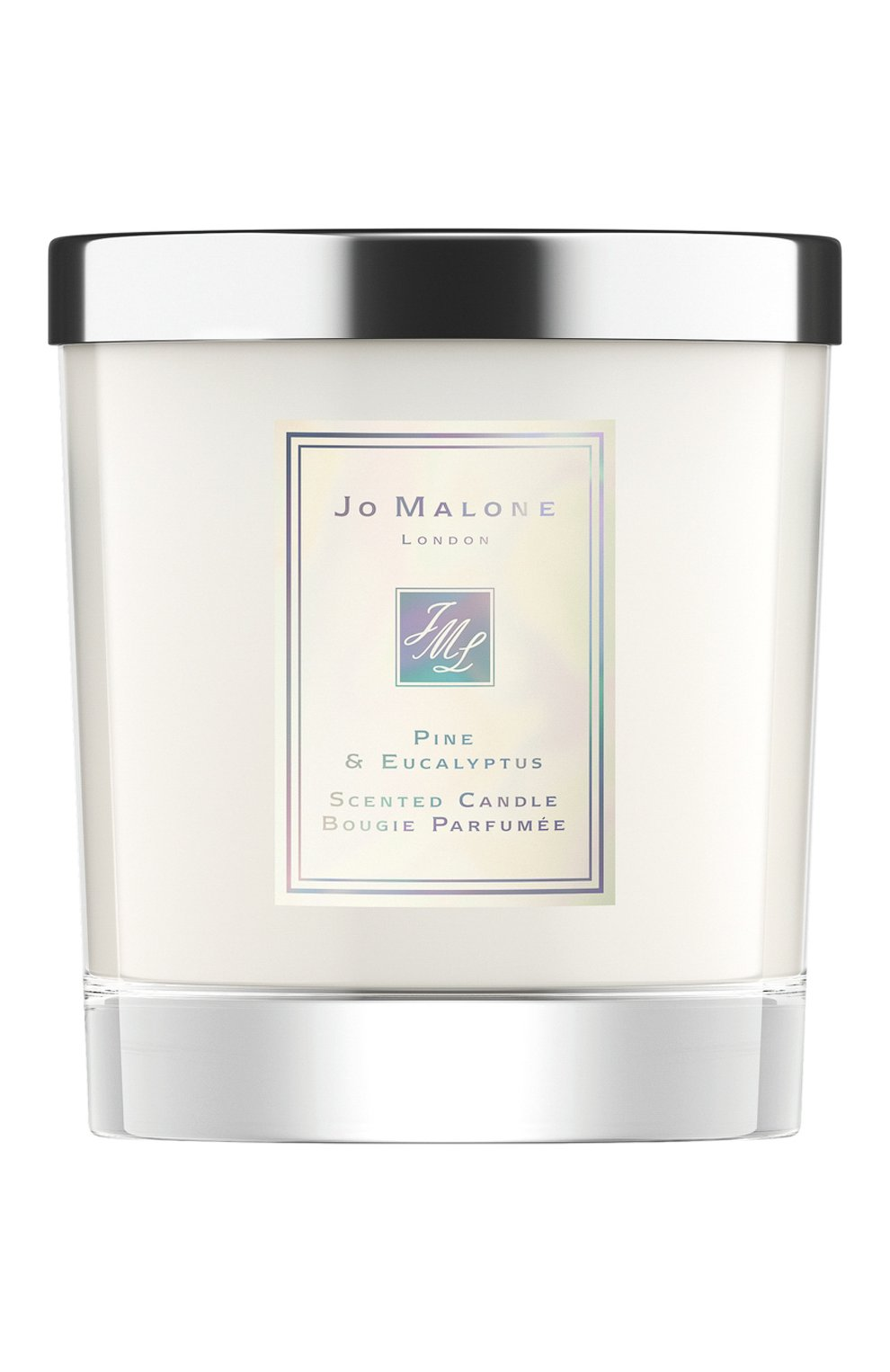 Мужская свеча ароматная pine & eucalyptus JO MALONE LONDON бесцветного цвета, арт. L92L-01 | Фото 1
