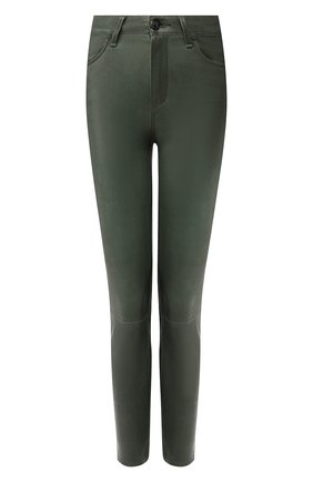 Женские кожаные брюки RAG&BONE зеленого цвета, арт. W2569L034GRN | Фото 1