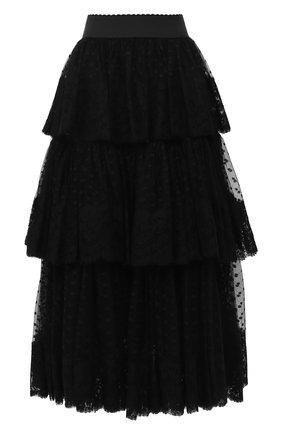 Многослойная юбка-миди | Фото №1