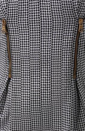 Хлопковое платье Versace черное | Фото №5