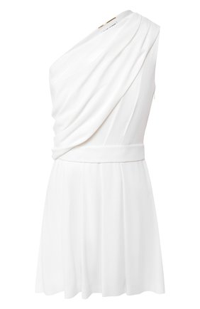 Платье в складку Saint Laurent белое | Фото №1