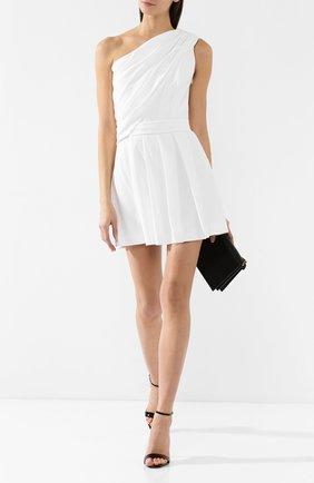 Платье в складку Saint Laurent белое | Фото №2