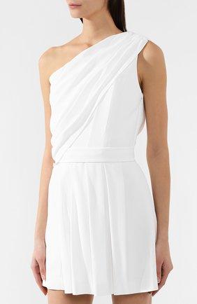 Платье в складку Saint Laurent белое | Фото №3