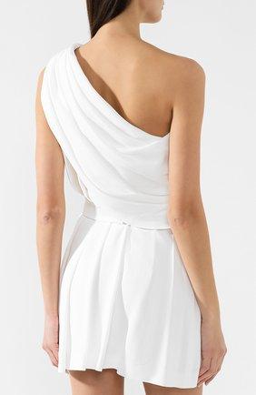 Платье в складку Saint Laurent белое | Фото №4
