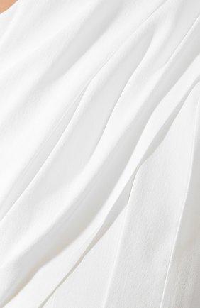 Платье в складку Saint Laurent белое | Фото №5