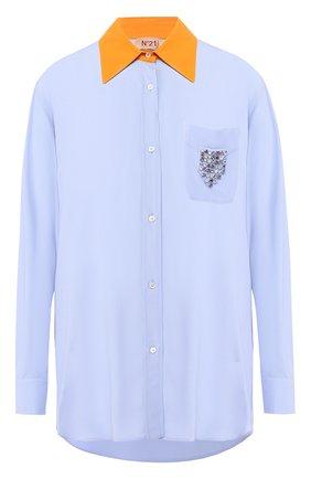 Блузка с накладным карманом | Фото №1