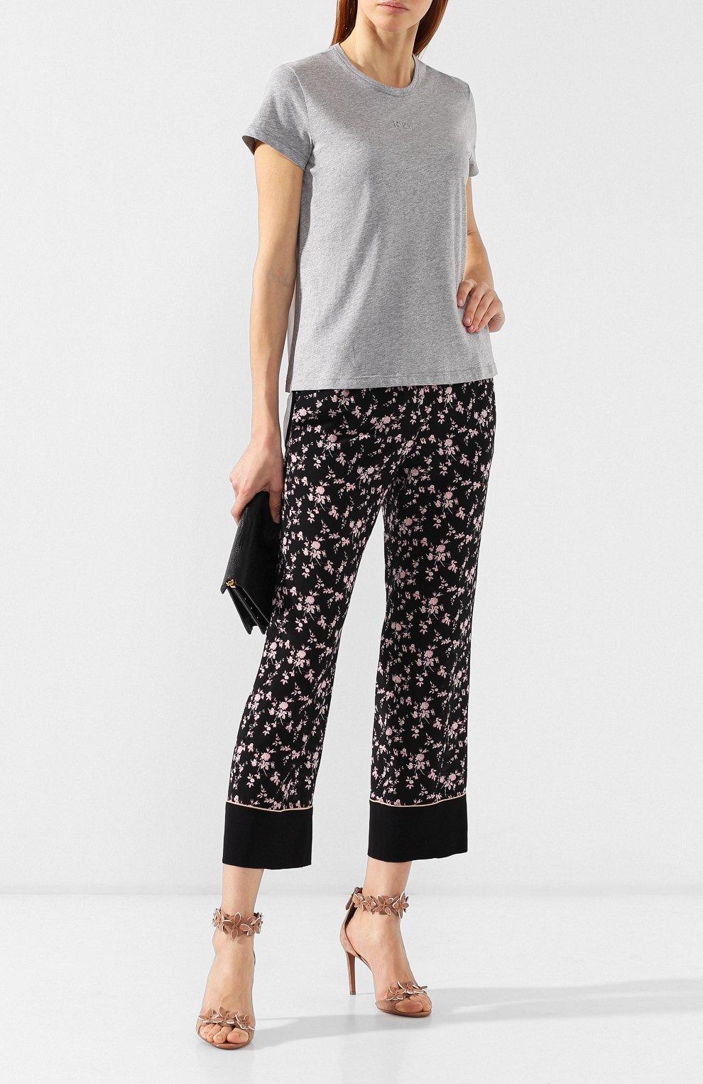 Шелковые брюки No. 21 черные | Фото №2