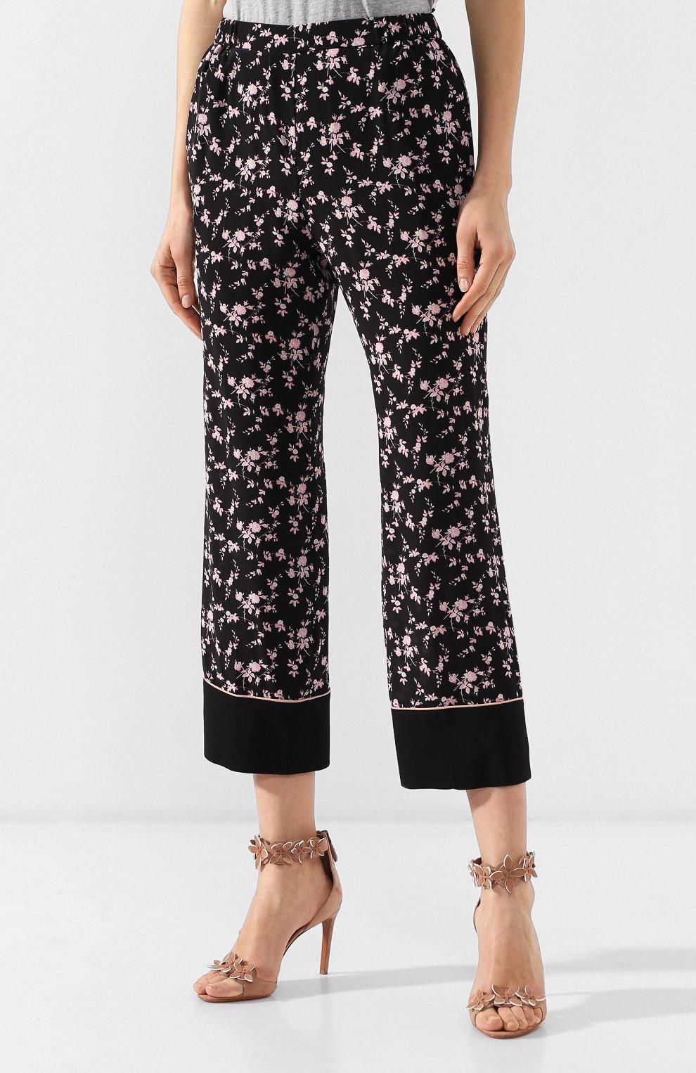 Шелковые брюки No. 21 черные | Фото №3