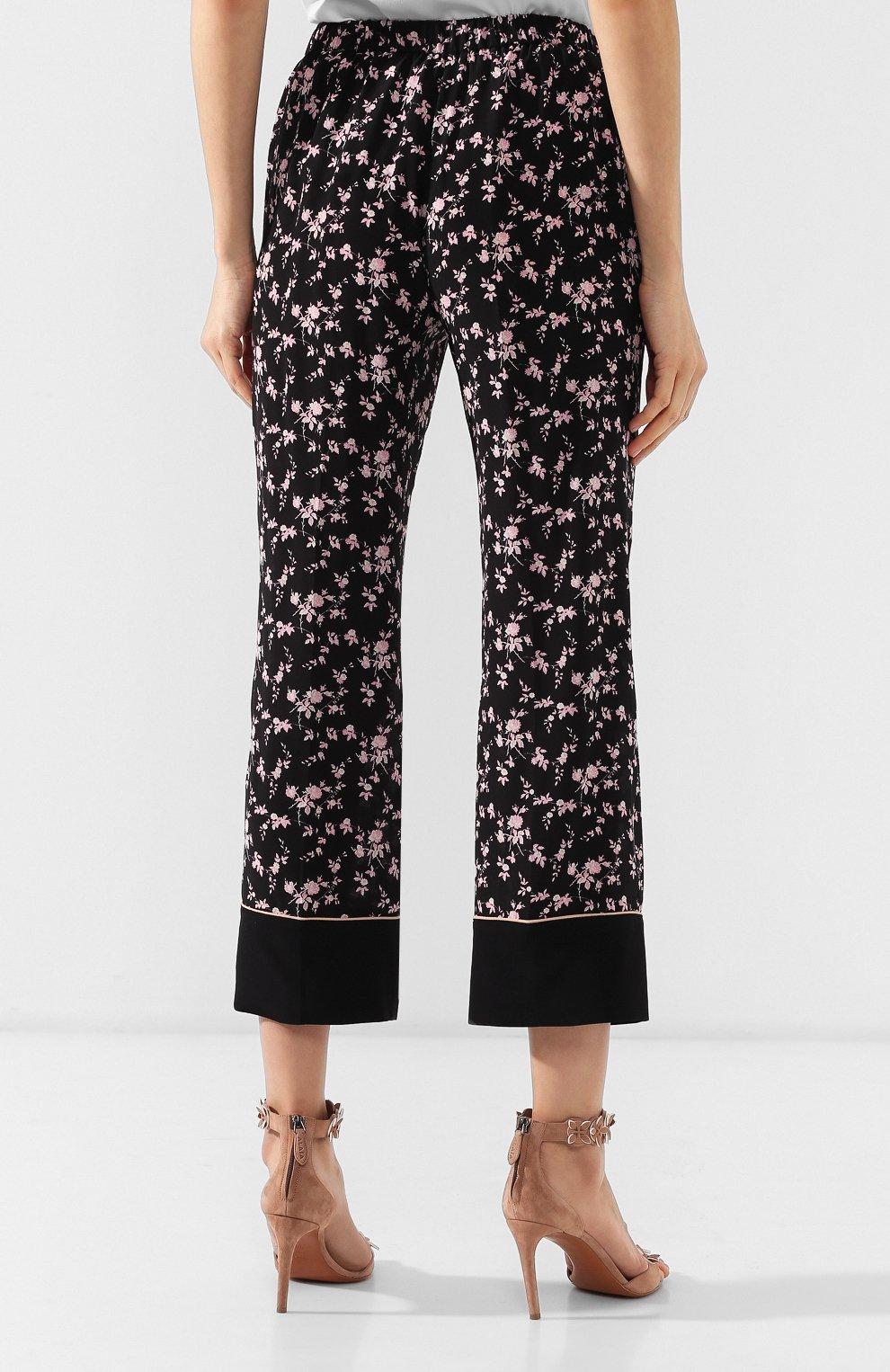 Шелковые брюки No. 21 черные | Фото №4