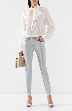 Женские джинсы-скинни RALPH LAUREN голубого цвета, арт. 290739837 | Фото 2