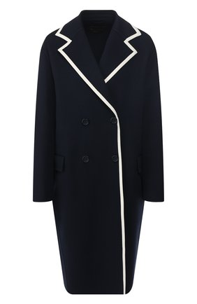 Женское кашемировое пальто LORO PIANA синего цвета, арт. FAI4357 | Фото 1