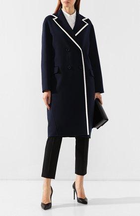 Женское кашемировое пальто LORO PIANA синего цвета, арт. FAI4357 | Фото 2