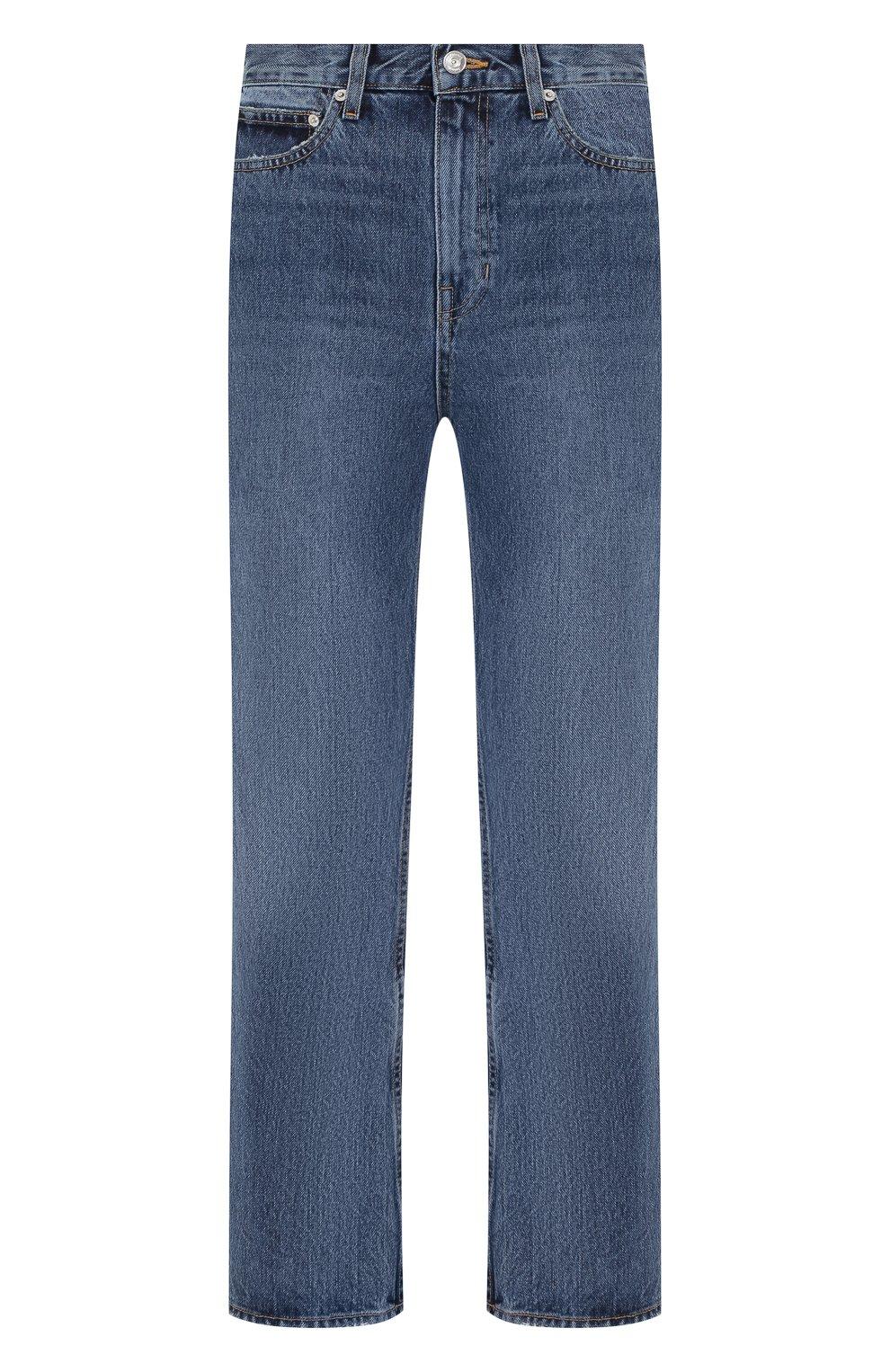 Укороченные джинсы Proenza Schouler голубые | Фото №1