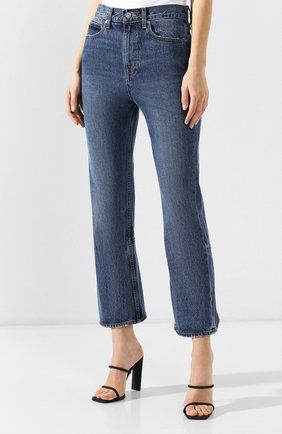 Укороченные джинсы Proenza Schouler голубые | Фото №3