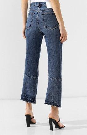 Укороченные джинсы Proenza Schouler голубые | Фото №4