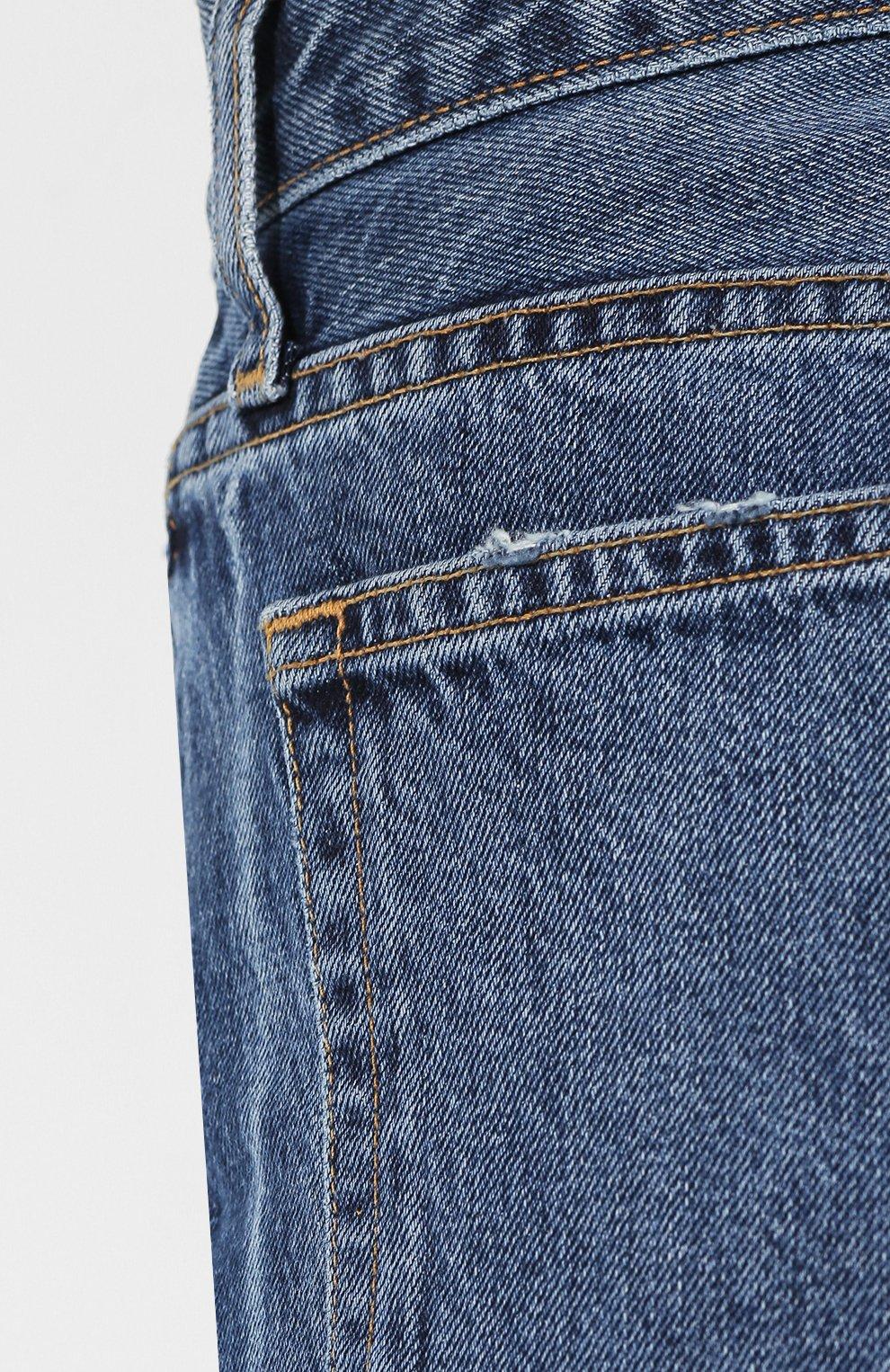 Укороченные джинсы Proenza Schouler голубые | Фото №5