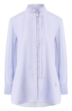 Рубашка с воротником-стойкой | Фото №1