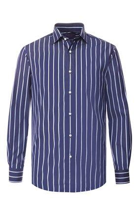 Мужская хлопковая рубашка с воротником кент RALPH LAUREN синего цвета, арт. 791741065 | Фото 1