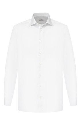 Мужская хлопковая сорочка с воротником кент ZILLI белого цвета, арт. MFR-01703-MERCU/RZ01 | Фото 1